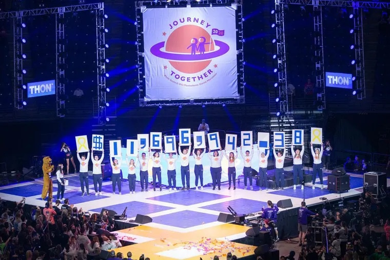 At the end of THON2020, the 46-hour dance-a-thon that raises money for pediatric cancer research and support, students announced the weekend's tally of $11,696,942.38 on Sunday.