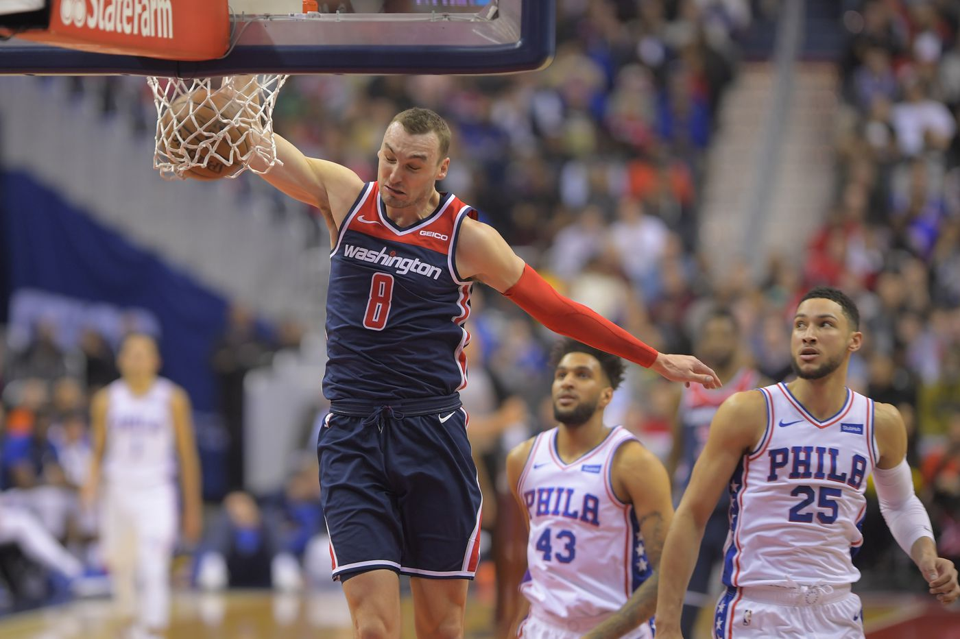 Sixers can't afford to duplicate mishap with Wizards as Eastern Conference standings continue to tighten