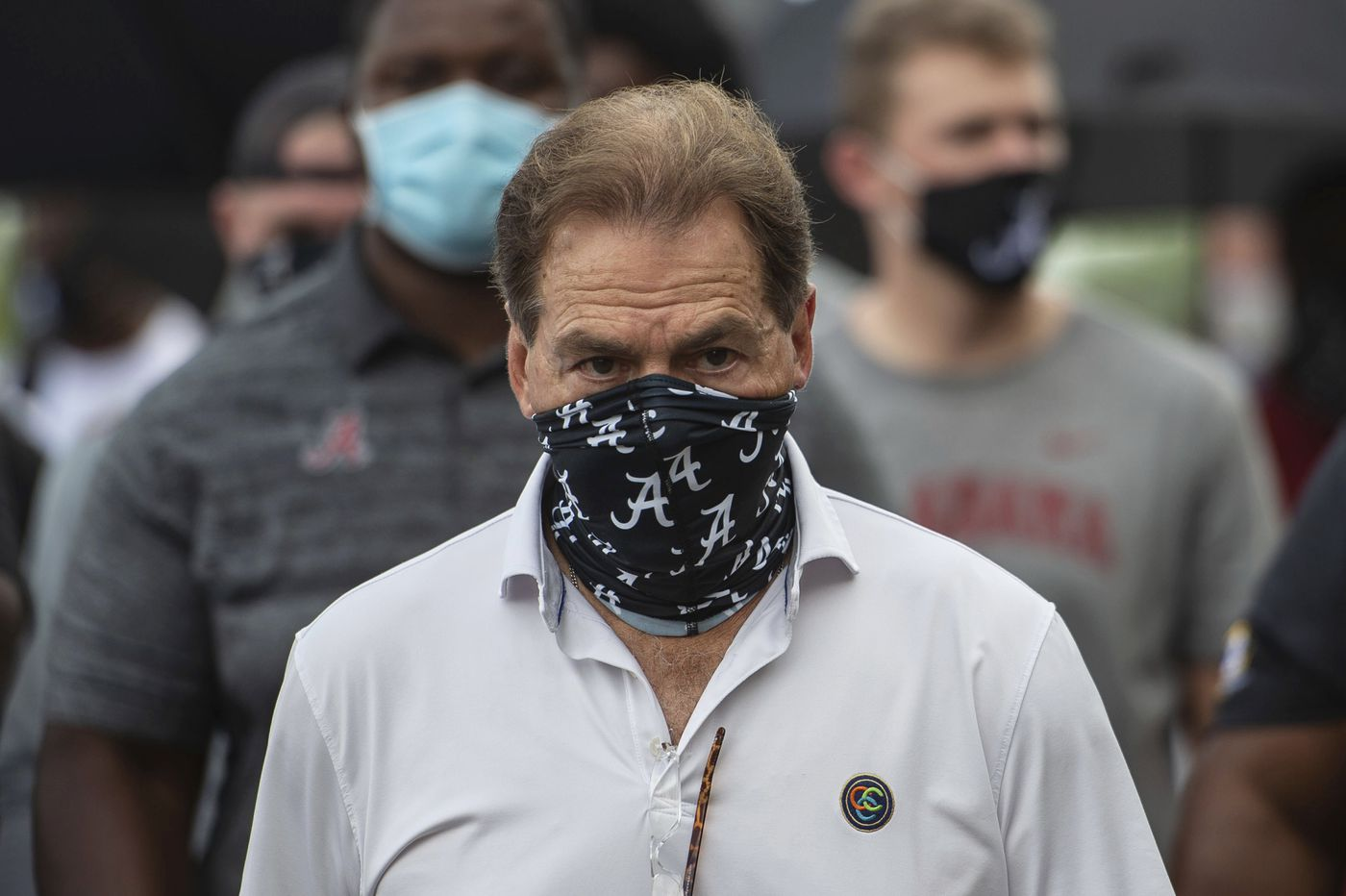 Nick Saban will watch from home when No. 2 Alabama clashes with No. 3 Georgia