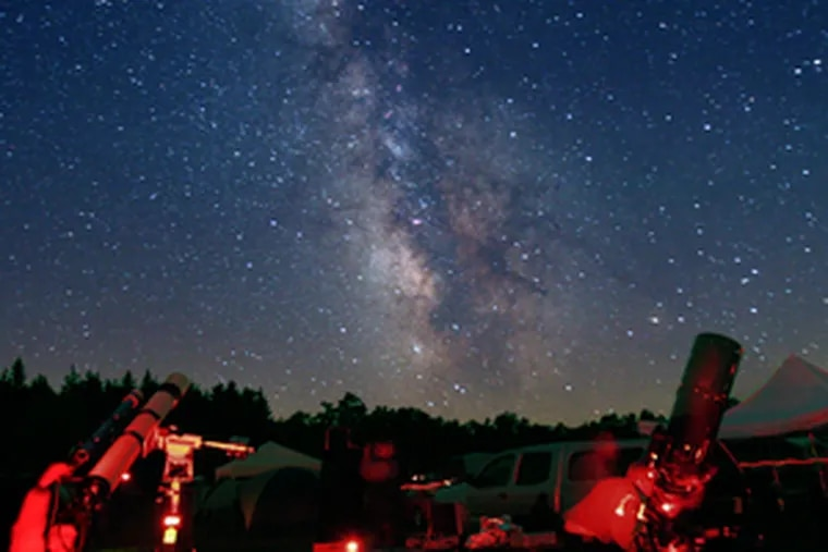 DARK SKY, Cherry Springs, Pa.: With no light pollution, even the summer Milky Way is in plain sight. . . . .