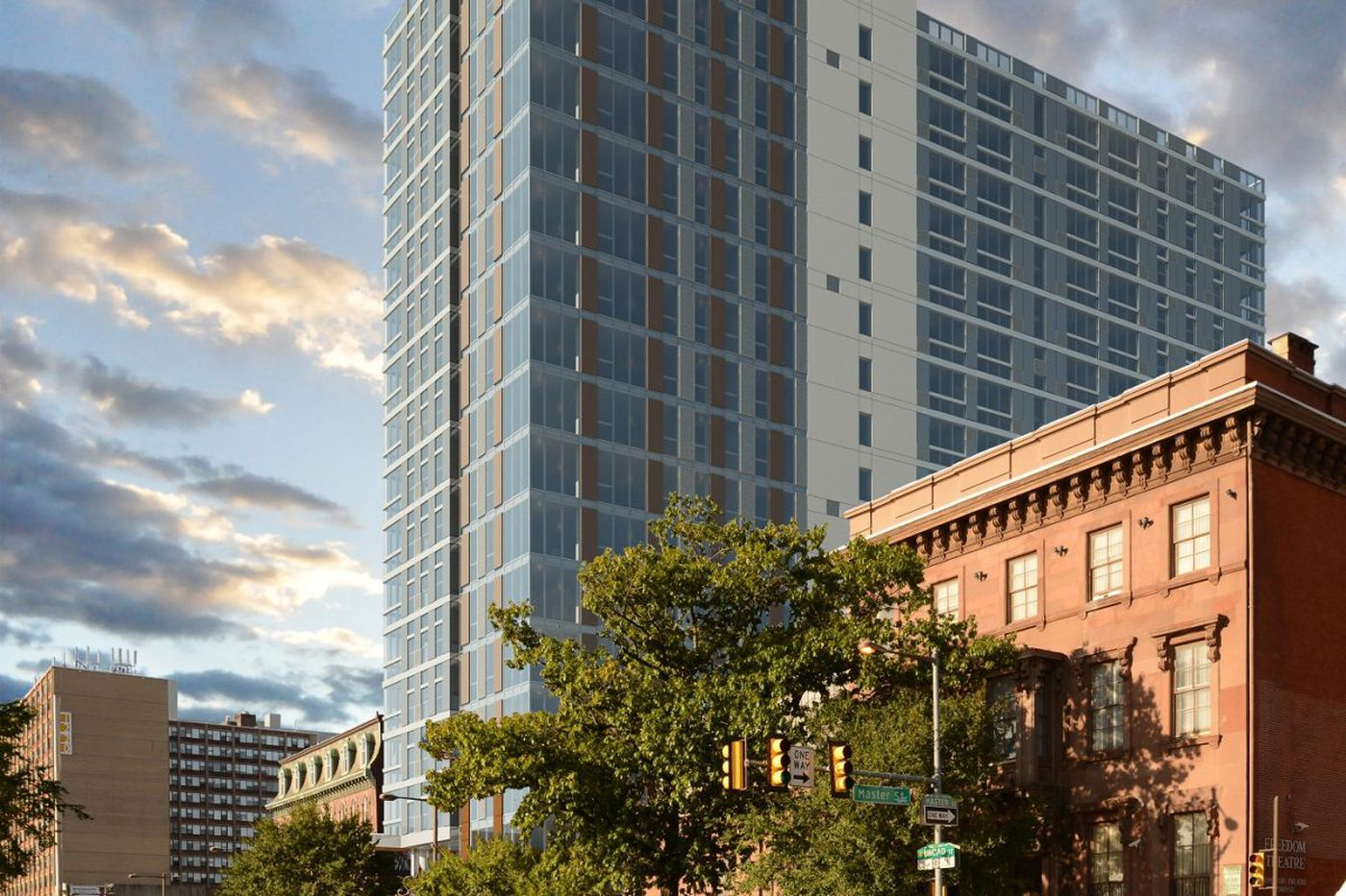 Work starts on apartment tower near Temple U. and historic North Broad Street venues