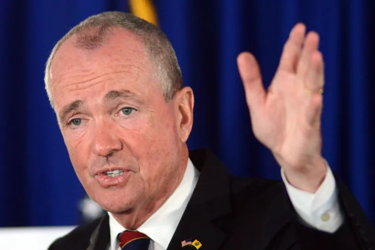 New Jersey Governor Phil Murphy speaks to reporters in June. On Friday, he said a new IRS rule that prevents New Jersey from using a workaround to the new federal tax law will hurt taxpayers.