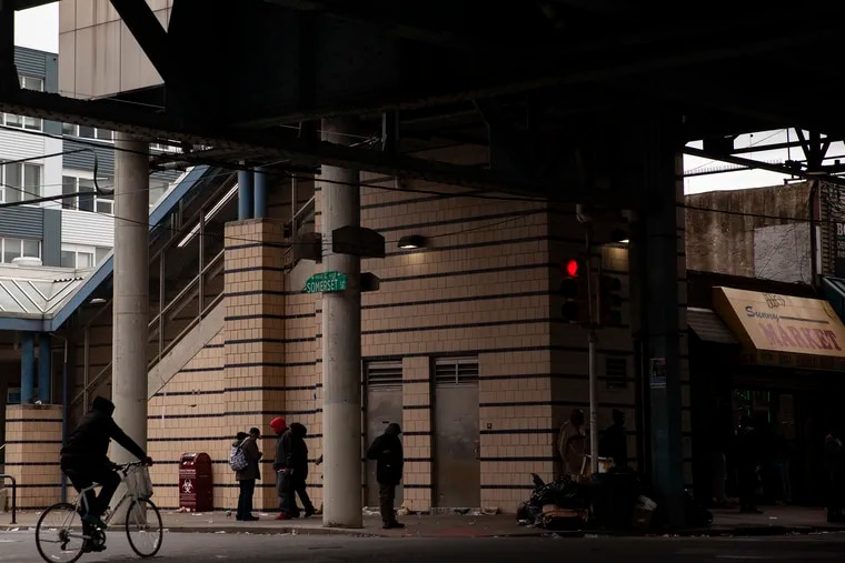 """The intersection of Somerset and Kensington Ave. is photographed on Tuesday afternoon, May 14, 2019. A study recently released by the city found that Philadelphia's overdose deaths dipped overall in 2018, but are """"still at crisis levels."""""""
