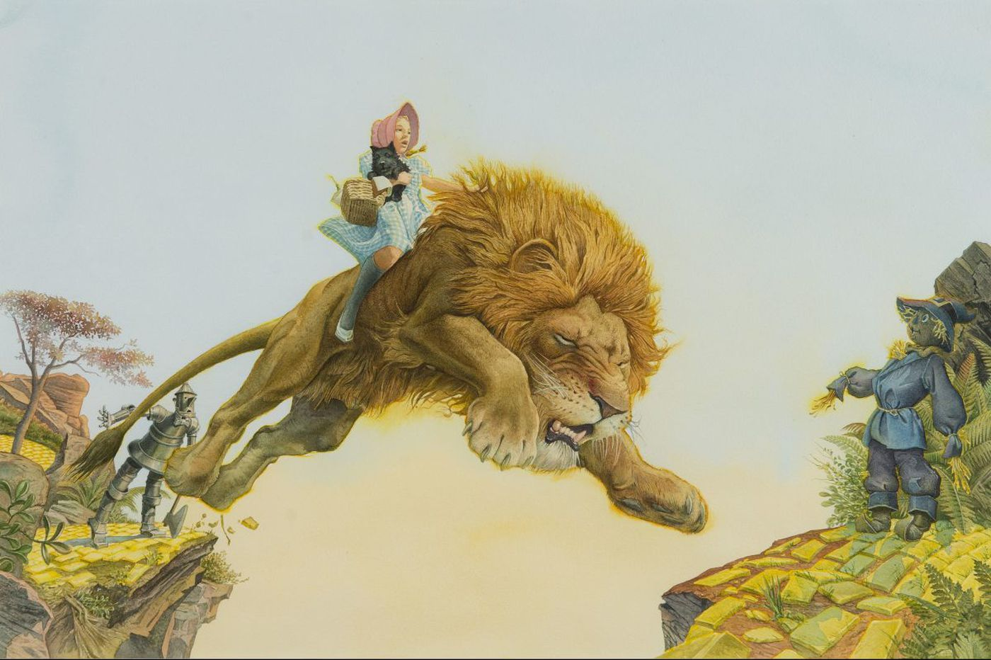 Woodmere's Charles Santore show is a trove of illustration, from Columbo to Cowardly Lion