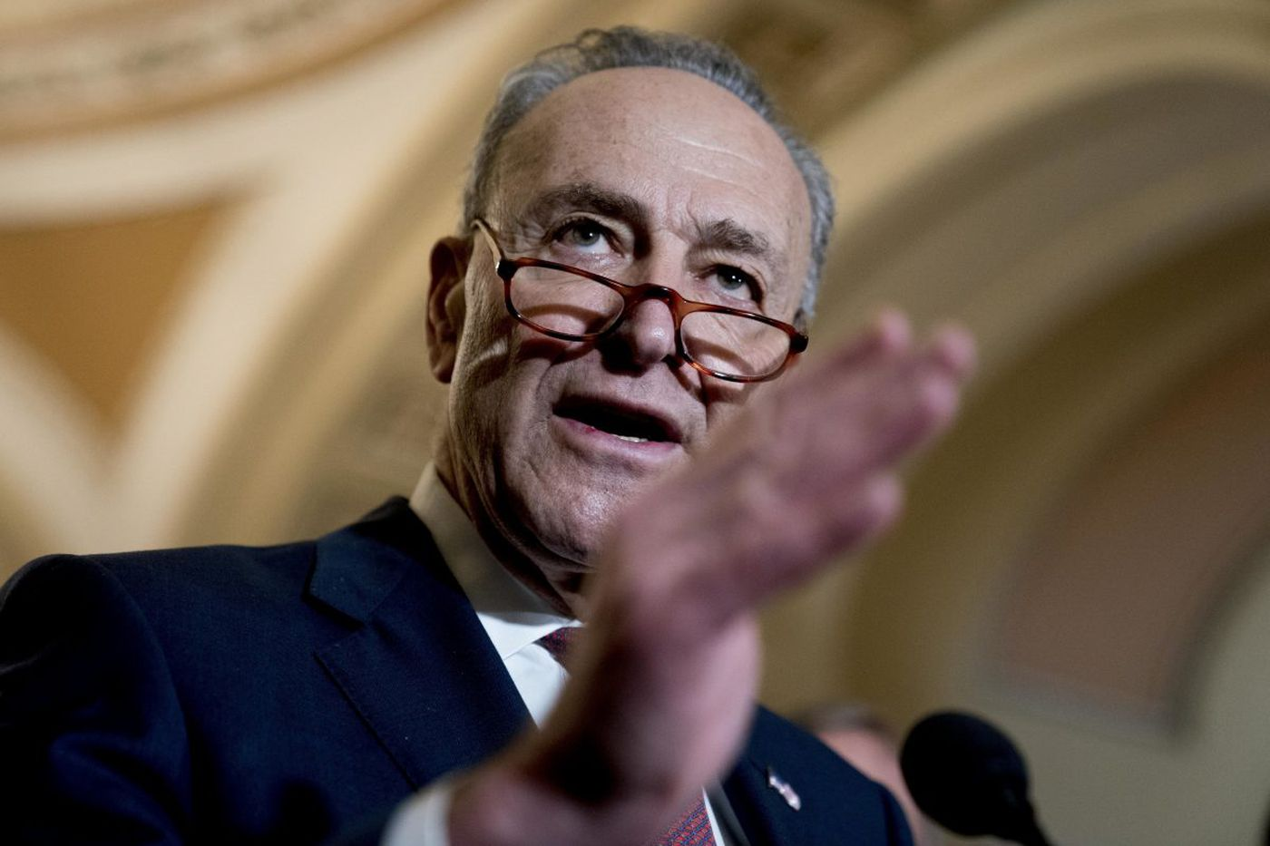 Trump taunts Schumer for taking 'such a beating' on government shutdown fight