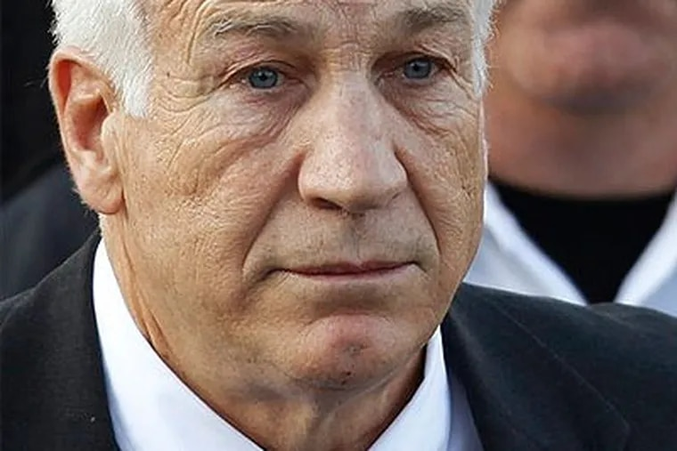 Life ahead for Jerry Sandusky: He will walk into state prison with little more than a watch and wedding band. He'll be able to work a 30-hour week to make a few dollars. (AP Photo / Matt Rourke, File)