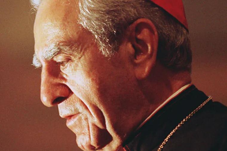 Cardinal Anthony J. Bevilacqua in 1999. (File Photograph)