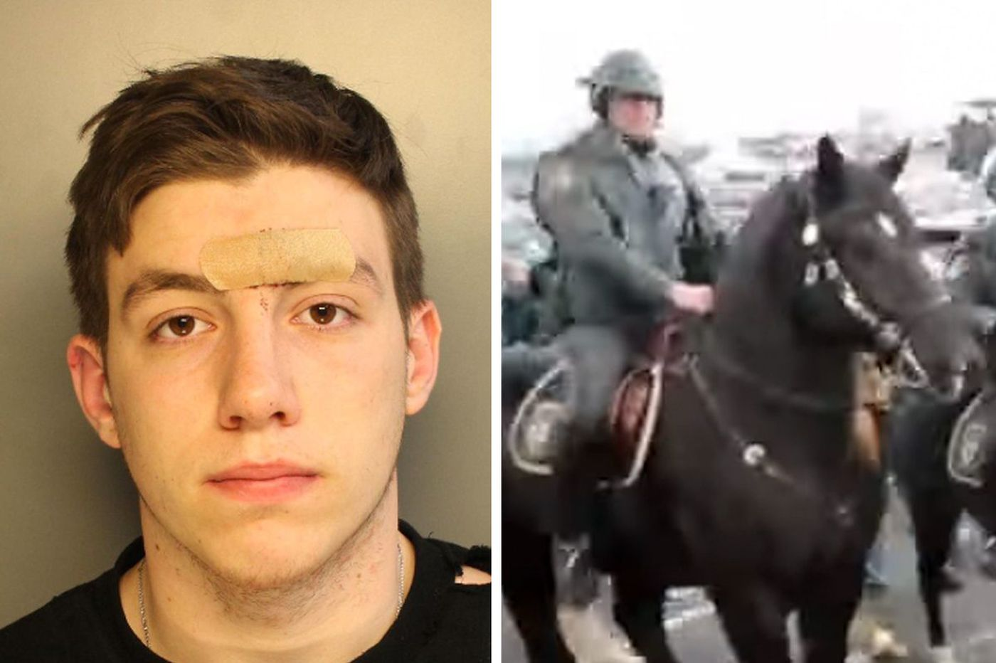 Eagles fan who allegedly punched police horse sues team, cops