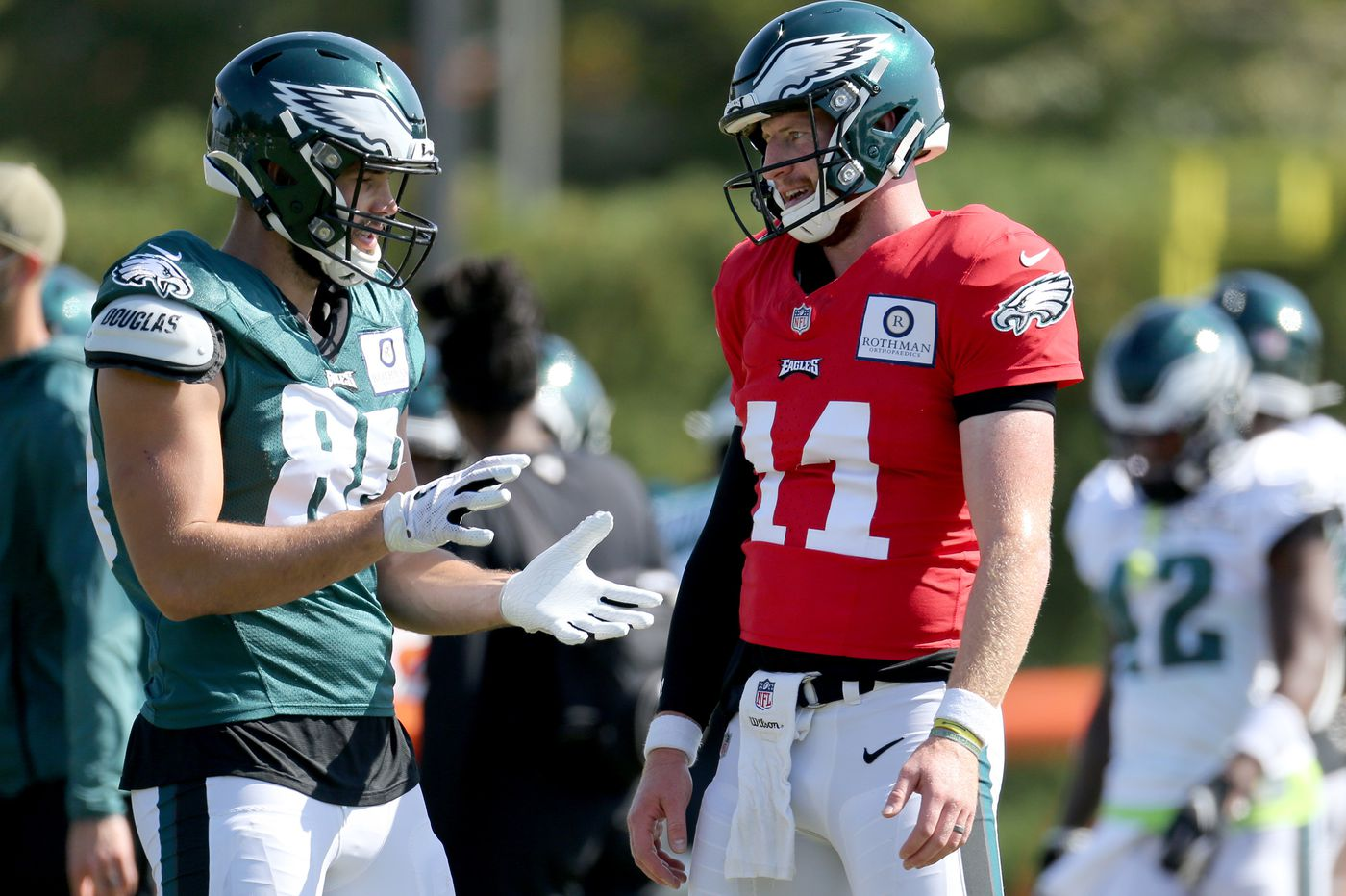 Carson Wentz projects calm, pledges that he and the Eagles will be better, but we don't get deep insights