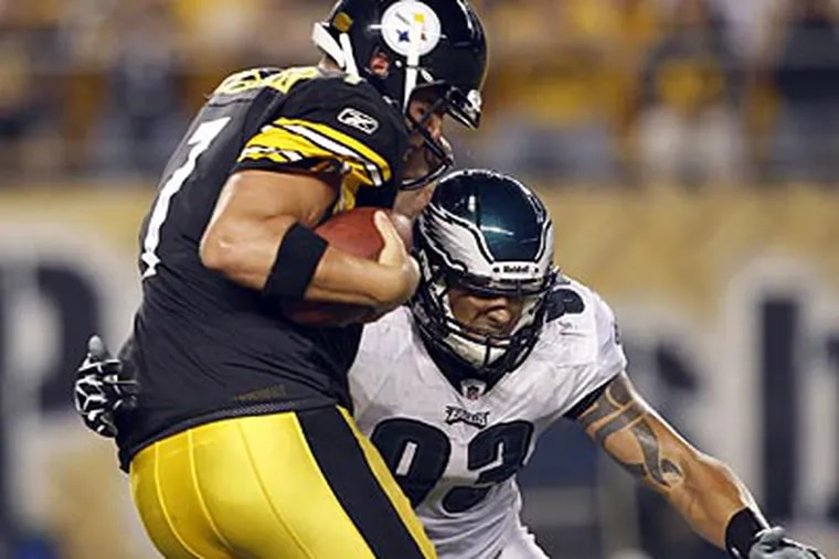 Ben Roethlisberger came into this season, his ninth in the NFL, having been sacked 314 times. (Yong Kim/Staff Photographer)