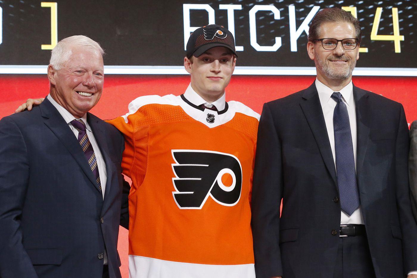 Flyers draft forwards Joel Farabee, Jay O'Brien with first-round picks