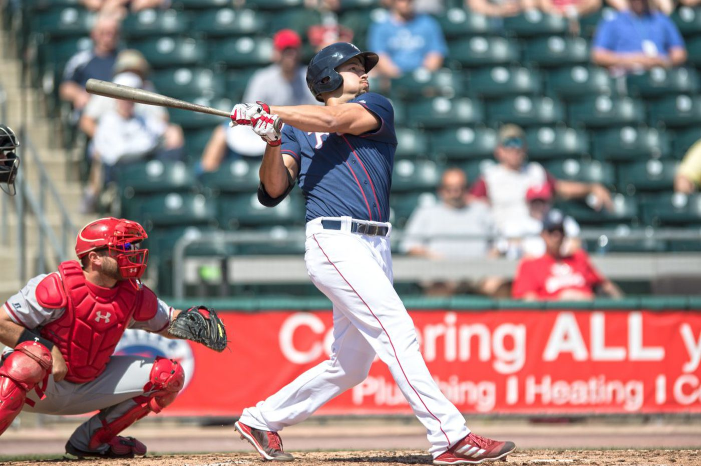 Dylan Cozens hit three home runs in triple-A Lehigh Valley on Wednesday