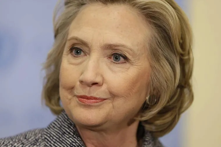 """Hillary Rodham Clinton speaks to the reporters at United Nations headquarters, Tuesday, March 10, 2015. Clinton conceded Tuesday that she should have used a government email to conduct business as secretary of state, saying her decision was simply a matter of """"convenience."""" (AP Photo/Seth Wenig)"""