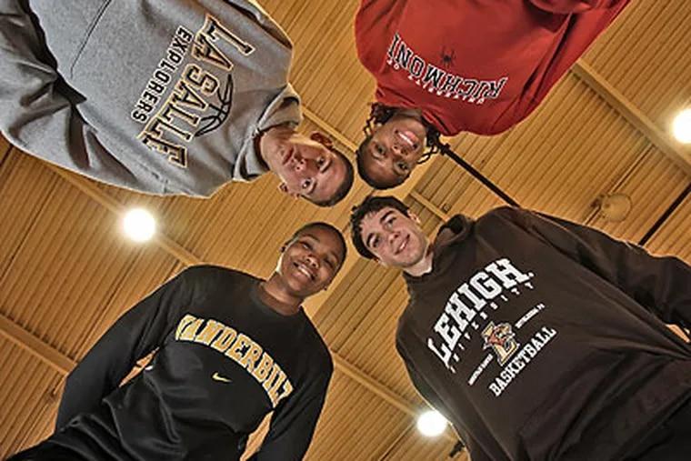 Four of South Jersey's top prospects who made early college decisions are Lenape's Christina Foggie (Vanderbilt), Washington Township's Matt Lopez (La Salle), Eastern's Gevevieve Okoro (Richmond), and Camden Catholic's Anthony D'Orazio (Lehigh). (David M Warren/Staff Photographer)