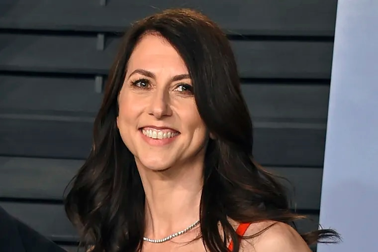 In this 2018 file photo, then-MacKenzie Bezos arrives at the Vanity Fair Oscar Party in Beverly Hills, Calif. The now former wife of Amazon CEO Jeff Bezos is giving away her wealth, including to Philadelphia organizations.