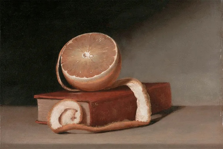 """""""Still Life with Book and Orange"""" (1815)."""