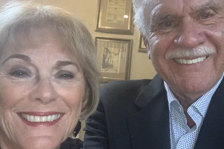 Frank and Barbara Osinski dressed up for a recent celebratory dinner.