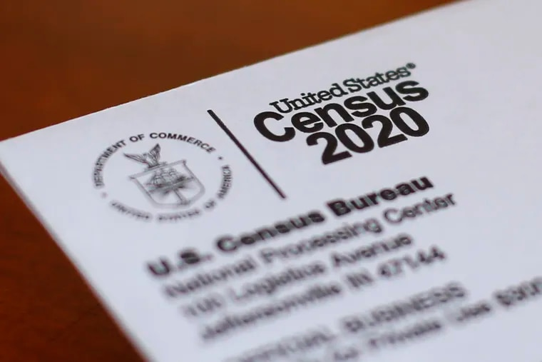 This file photo shows an envelope containing a 2020 Census letter.