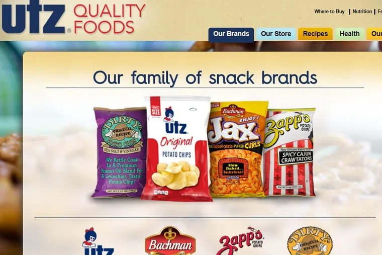 Some of Utz Quality Foods's snack-food brands.
