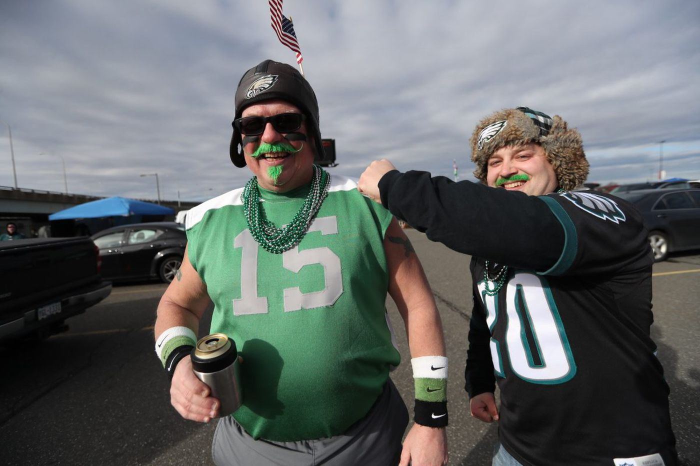 Eagles fans greet playoff day with tailgating gusto: 'It's so much bigger than the Eagles.'