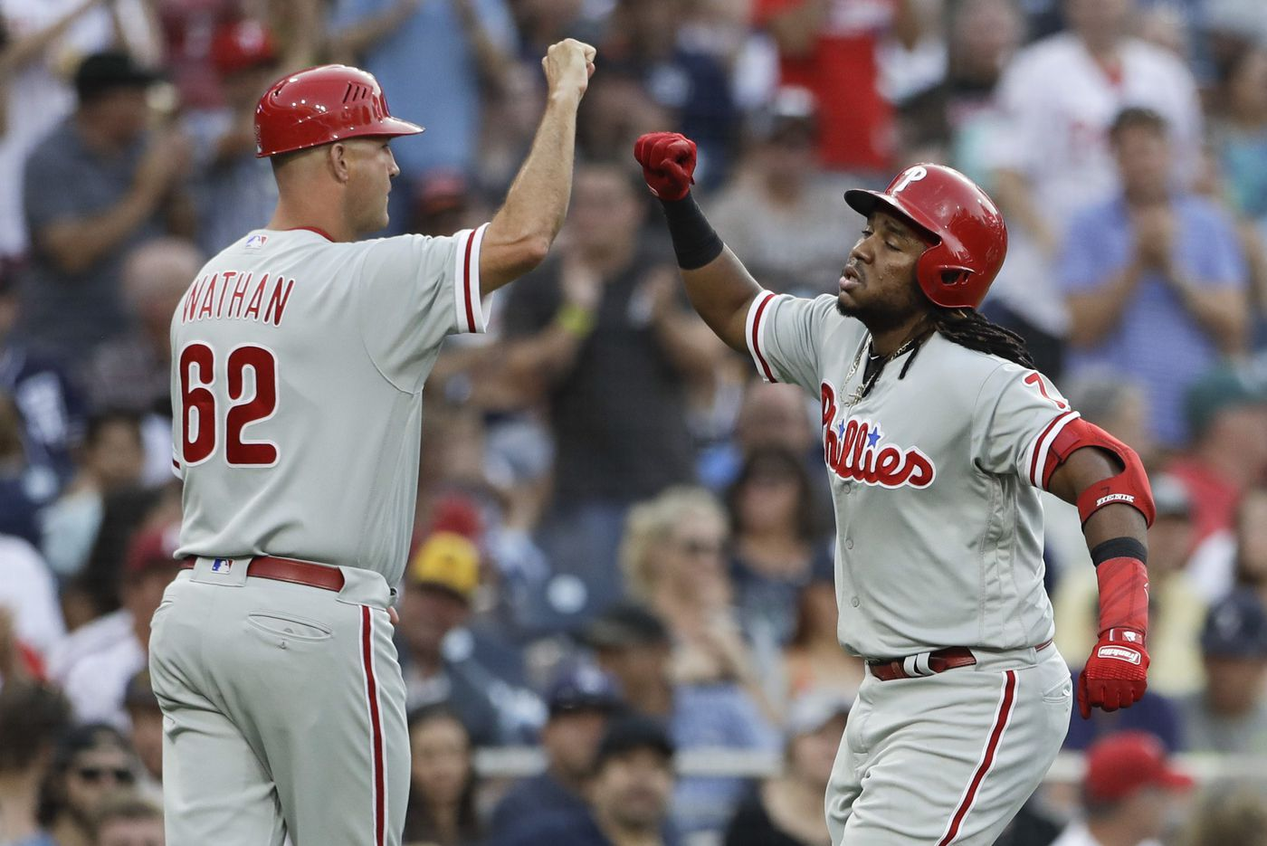 Phillies' slumbering offense breaks out against Padres rookie starter in 5-1 win
