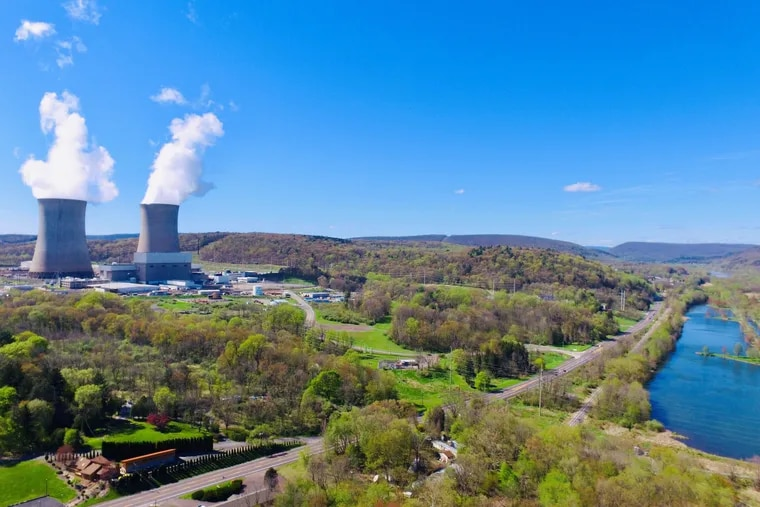 The Susquehanna Steam Electric Station near Berwick, Pa., is a two-unit nuclear reactor owned by Talen Energy. Talen announced the week of Aug. 1, 2021, that it plans to go into partnership with a cryptocurrency producer, TeraWulf Inc., to build a $400 million bitcoin mining operation at the Luzerne County plant that will be called Nautilus Cryptomine.