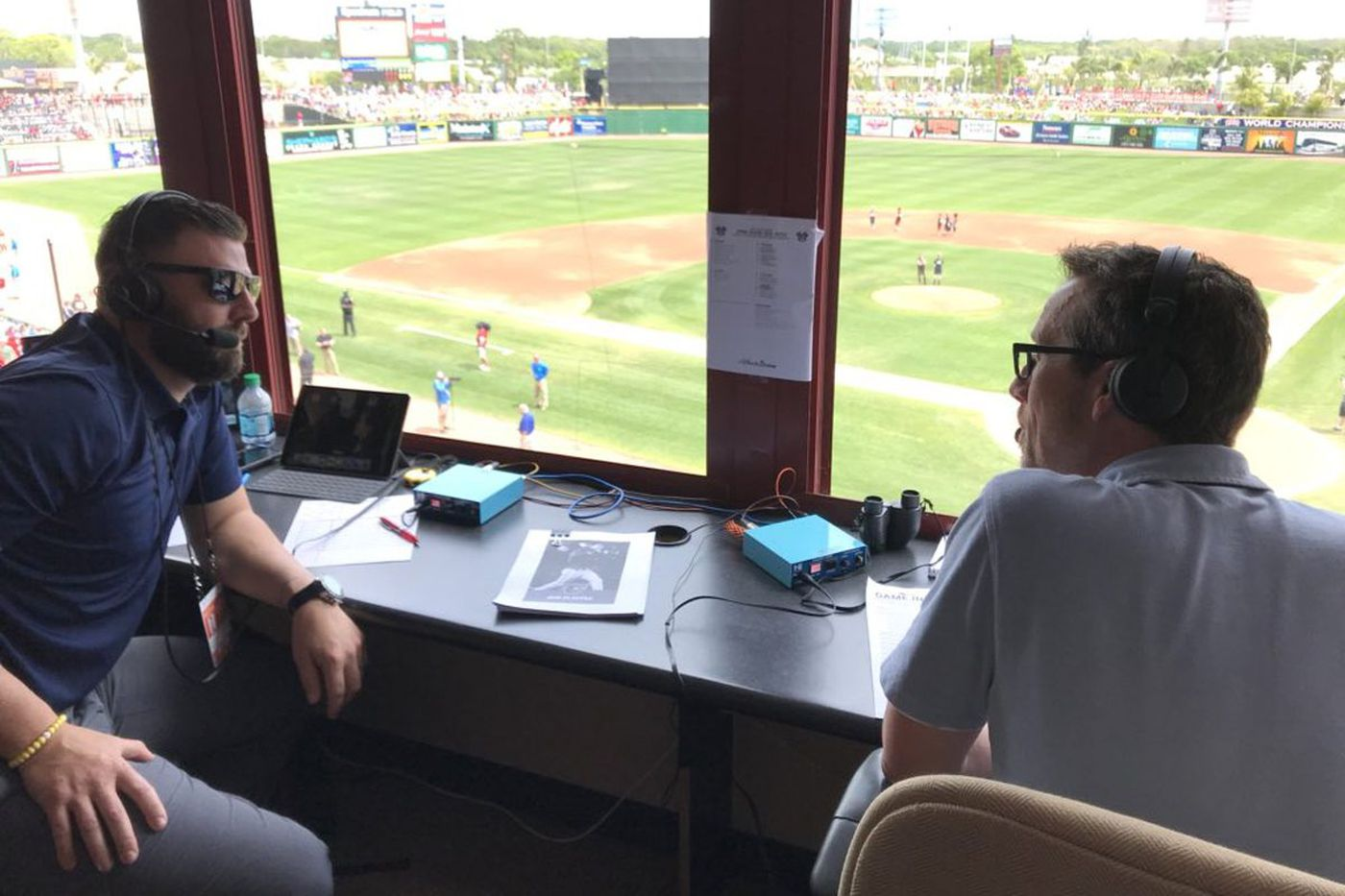 In the Phillies broadcast booth, team trying an experiment involving three Kevins