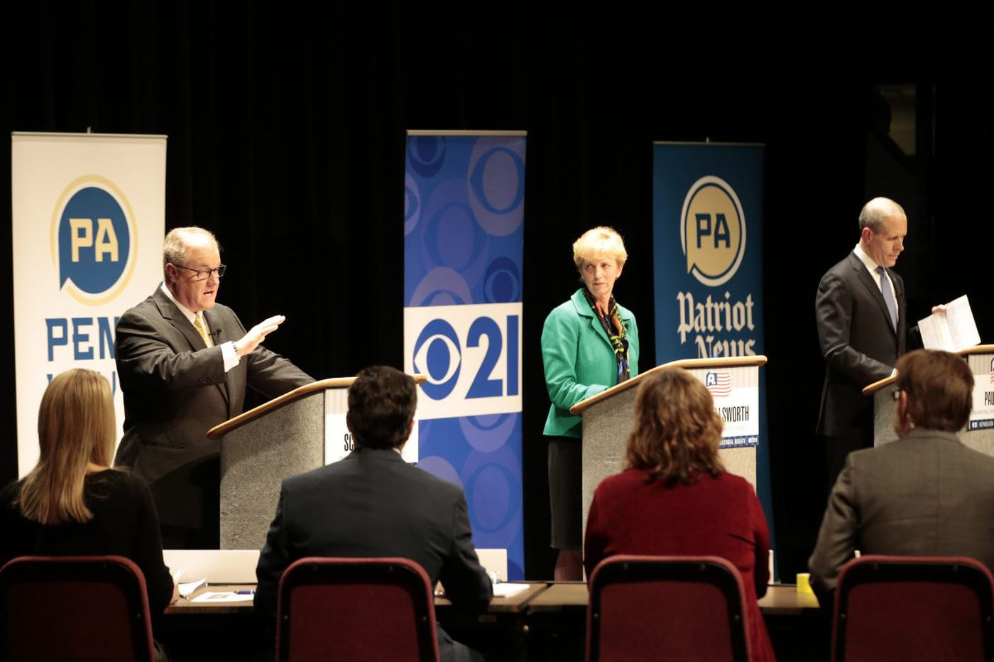Pa. GOP governor candidates debate taxes, jobs, and bathrooms in Philly