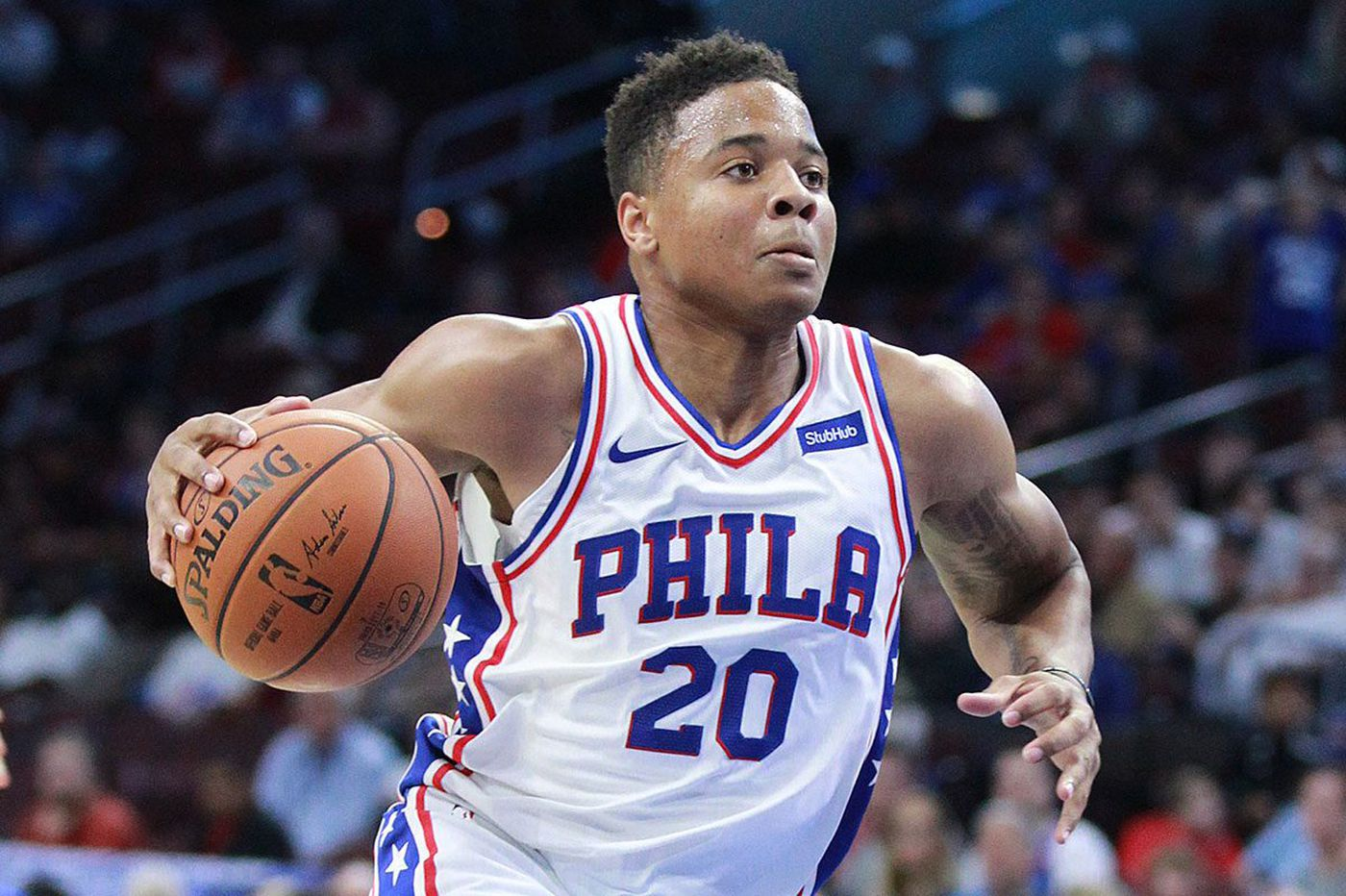Sixers rookie Markelle Fultz plays 5-on-5 at practice
