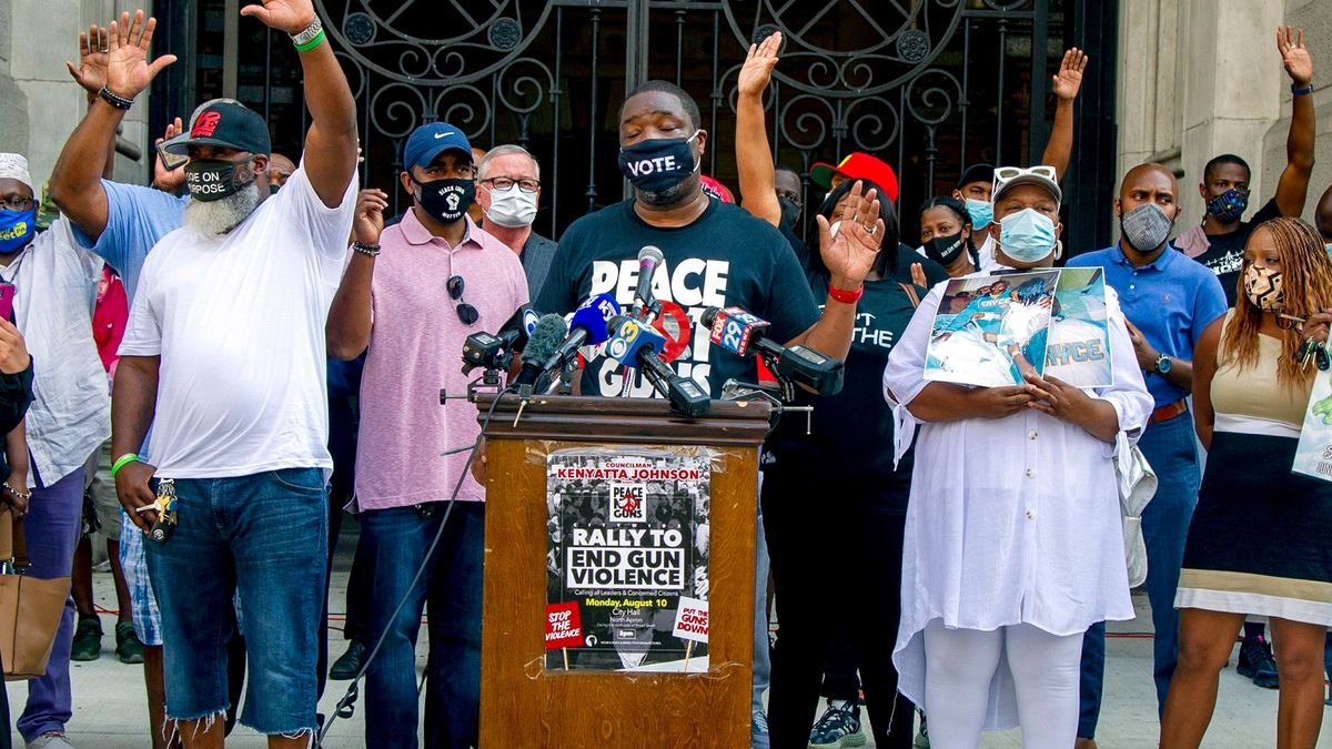 Kenyatta Johnson brings residents, activists, officials together to rally against gun violence