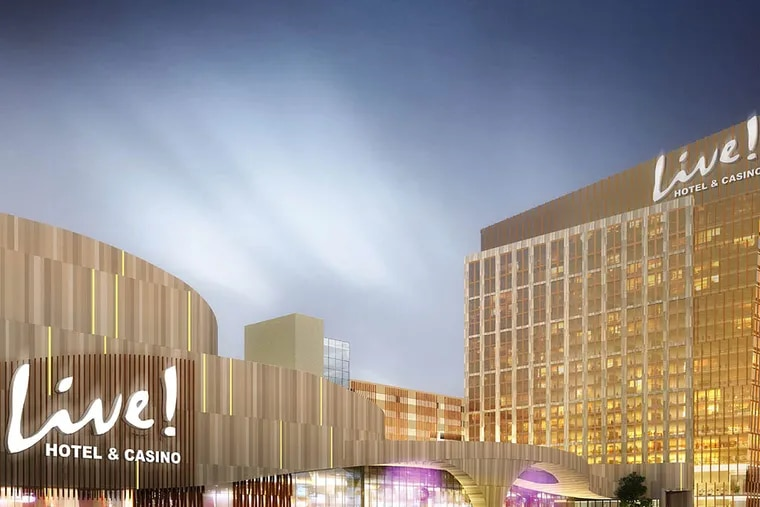 Live! Hotel & Casino at 900 Packer Ave., shown in a rendering, would be the city's second casino. City Council still must tweak the zoning to get it fully approved.