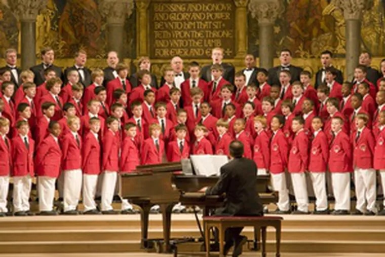 The Philadelphia Boys Choir & Chorale will give two holiday concerts this season.