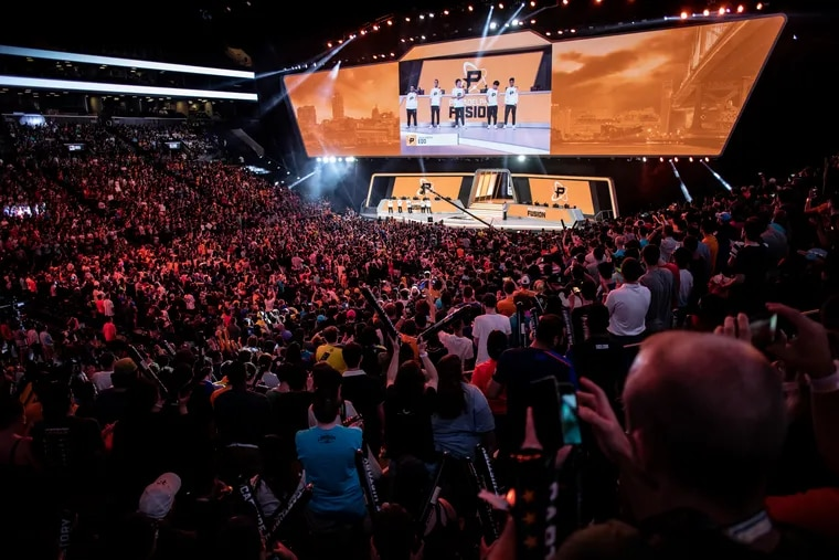 The Philadelphia Fusion during the Overwatch League Season 1 Grand Finals.