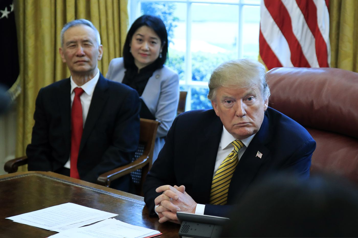 Trump says US, China 'rounding the turn' in trade talks