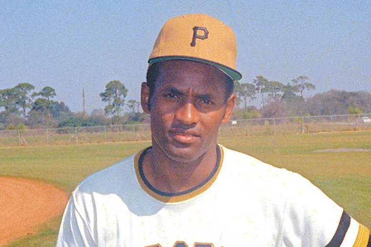 Roberto Clemente, outfielder with the Pittsburgh Pirates baseball team, is photographed in 1971 at an unknown location. (AP Photo)