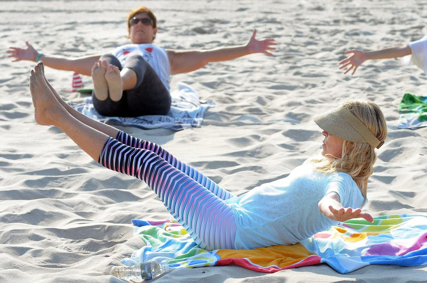On vacation at LBI, who wants an intense yoga boot camp? New Yorkers, that's who