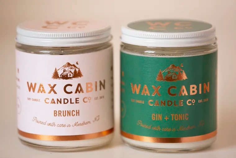 Wax Cabin Candle Co.'s Brunch and Gin + Tonic scents.