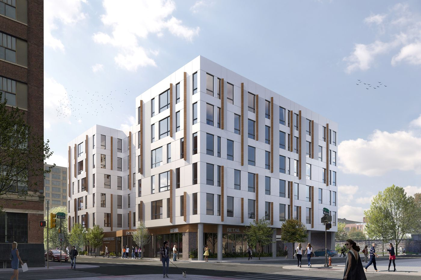 New 'co-living' apartment building to rise on parking lot along Rail Park north of Center City