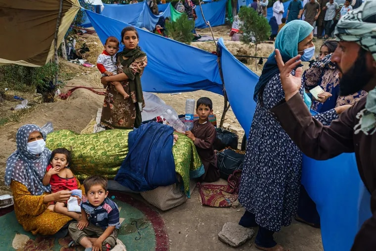 Refugees at Hasa-e-Awal Park in Kabul, Afghanistan.