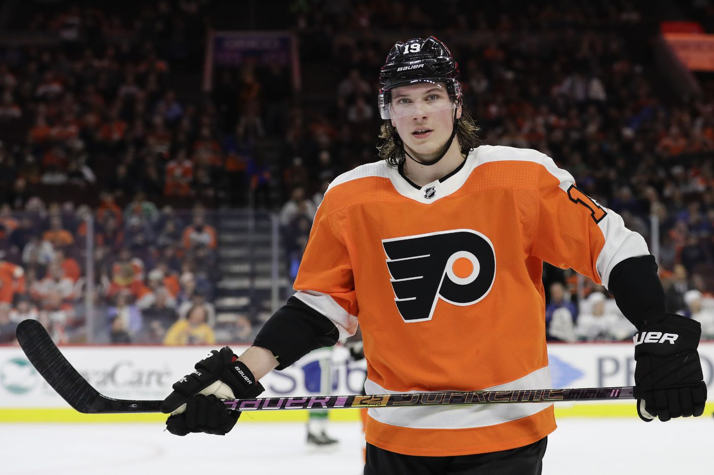 Nolan Patrick on ice for Flyers at practice; says he expects to play this season
