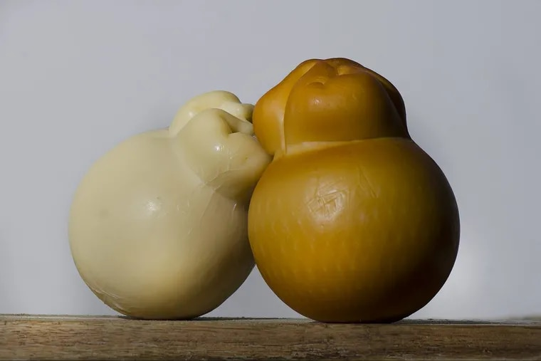 Dry and smoked scamorza cheese from ClaudioÕs Specialty Foods.