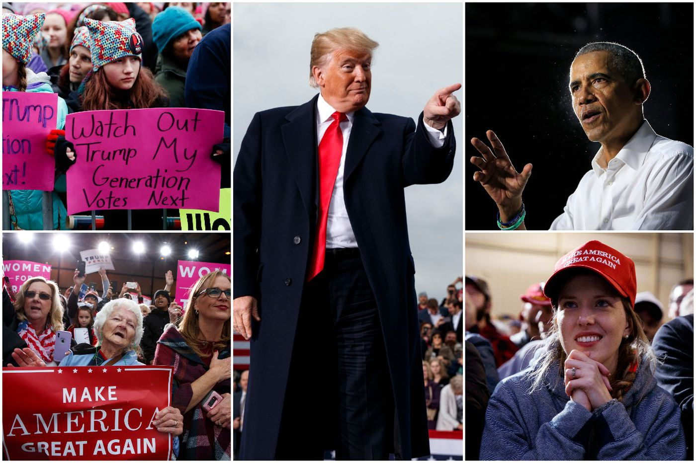 Anxious, angry, divided, voters go to the polls for a midterm of rare intensity