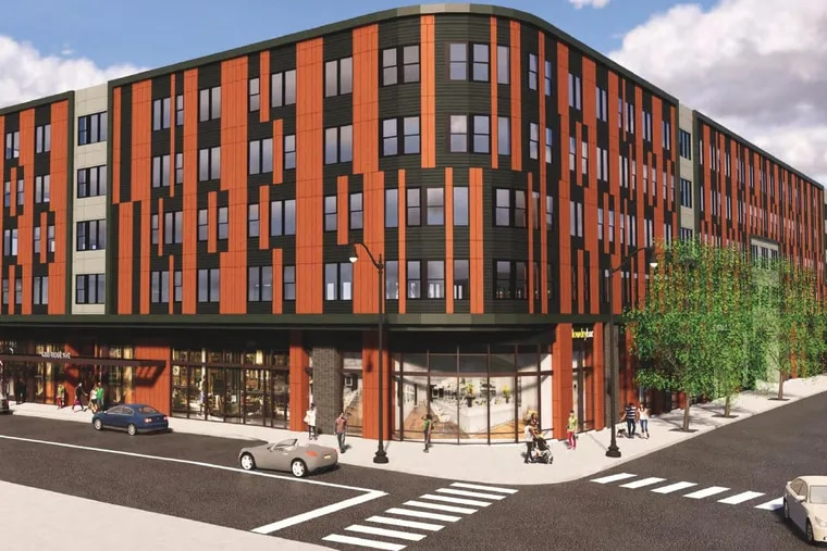 Project planned for 4300-4326 Ridge Ave., as seen from corner of Ridge Ave. and Calumet St.