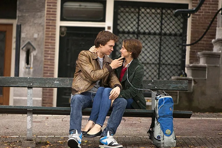 """Ansel Elgort and Shailene Woodley in """"The Fault in Our Stars."""" (Twentieth Century Fox photo)"""