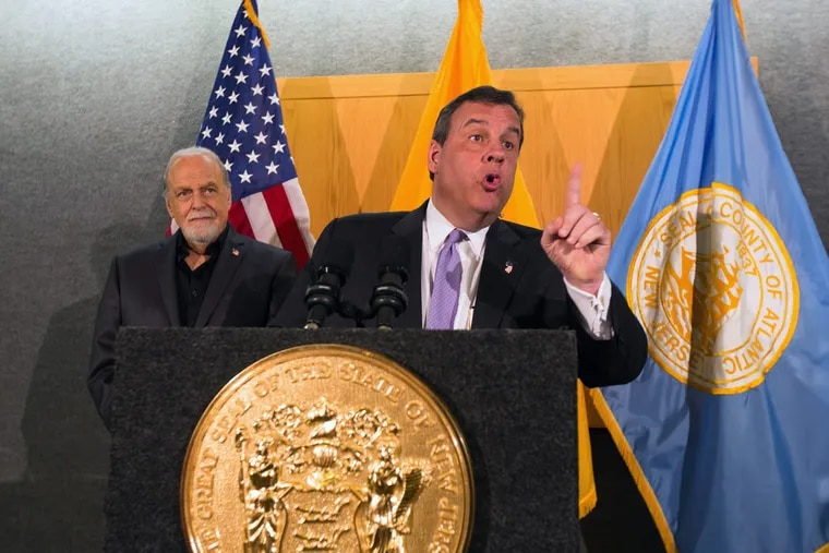 Gov. Christie speaks at the Atlantic County government building on April 6, 2016.