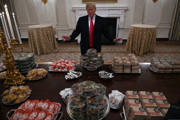 Lovin' it: Trump fetes champion Clemson with burgers, fries