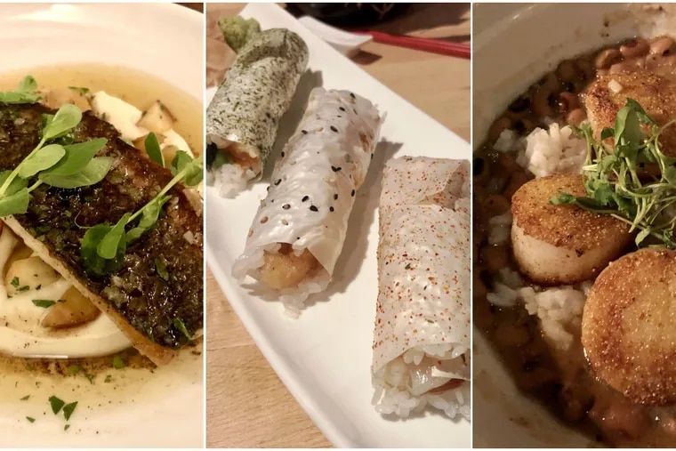 Where did Craig LaBan eat all these seafood dishes?