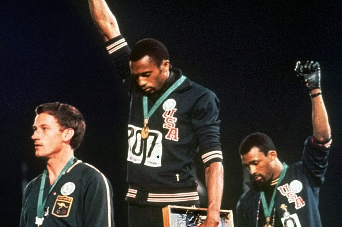 A white Australian backed the cause dramatized by black American Olympic stars Tommie Smith and John Carlos