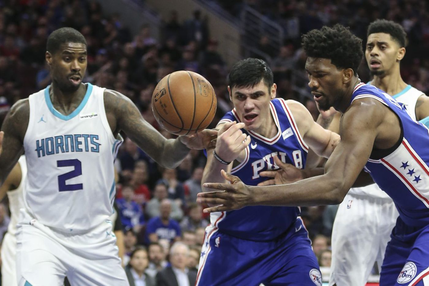 Sixers 108, Hornets 94: Joel Embiid and Marco Belinelli lead second half surge and Ben Simmons notches another triple-double