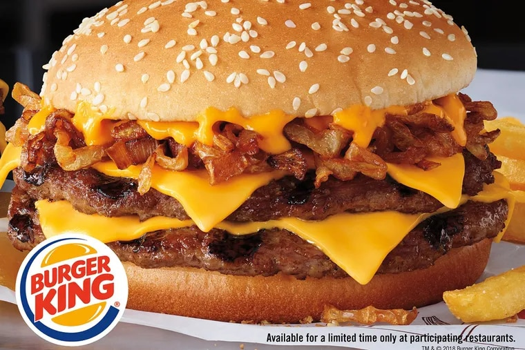 The Philly Cheese King from Burger King.